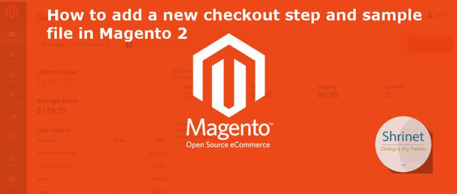 Magento new checkout step